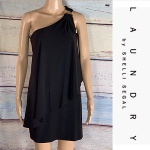 Laundry One Shoulder Cocktail Dress